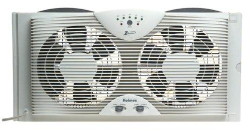 Bionaire Twin Reversible Airflow Window Fan With Remote