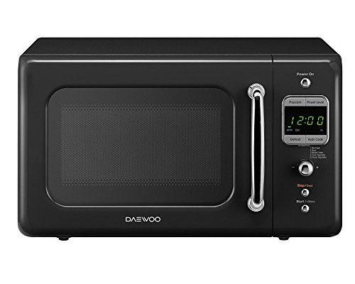 Daewoo Retro Microwave Oven Piano 0 7 Cu Ft Black