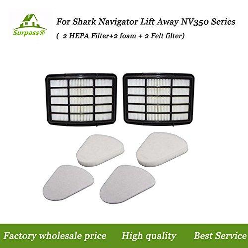 HEPA Filter for Shark Navigator NV350-NV360 Series Lift-Away Upright XHF350