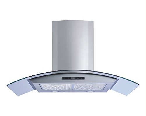 Winflo 30 Wall Mount Stainless Steel Tempered Glass