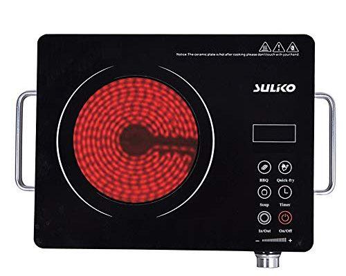 Suliko Electric Cooktop 1800w Portable Countertop Burner