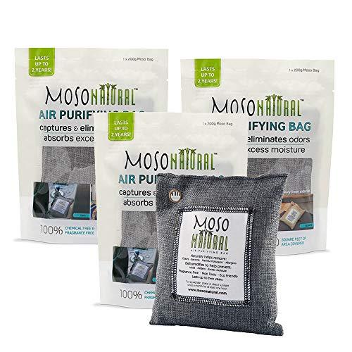 Moso Natural Air Purifying Bag 3 Pack Bamboo Charcoal Air